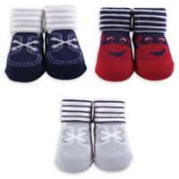 The Hudson Baby® Size 0-6M Crab Sock 3-Piece Gift Set