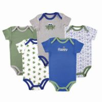 Luvable Friends Size 18-24M 5-Pack Frog Bodysuits in Green