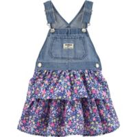 OshKosh B'gosh® Size 3T Denim and Floral Skortall in Blue