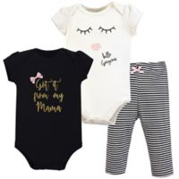 Little Treasure Size 18-24M 3-Piece Mama Bodysuit and Pant Set in Black