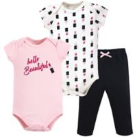 Little Treasure Size 0-3M 3-Piece Lipstick Layette Set in Pink