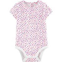OshKosh B'gosh® Size 9M Hearts and Strawberries Bodysuit in White