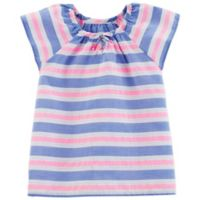 OshKosh B'gosh® Size 3T Ruffle Striped T-Shirt