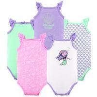 Hudson Baby® Size 12-18M 5-Pack Mermaid Sleeveless Bodysuits in Purple