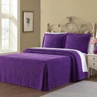 Richland Queen Bedspread Set in Purple