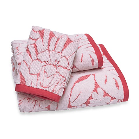 Fiona Hand Towel - Coral