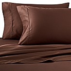 Wamsutta® 400-Thread-Count Sateen Queen Sheet Set in Chocolate