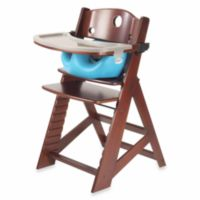Keekaroo® Height Right High Chair Mahogany with Aqua Infant Insert and Tray
