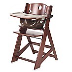 Keekarooreg Height Right High Chair Mahogany with Chocolate Infant Insert and Tray