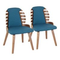 LumiSource Palm Dining Chairs in Blue (Set of 2)
