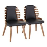 LumiSource Palm Dining Chairs in Black (Set of 2)