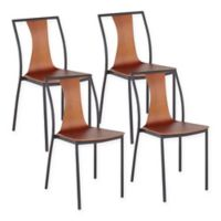 Lumisource® Osaka Dining Chairs in Black/walnut (Set of 4)