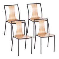 Lumisource® Osaka Dining Chairs in Black/natural (Set of 4)