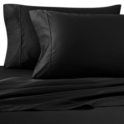 Buy Satin Luxury California King Sheet Set In Black From
