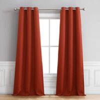 Henley 96-Inch Grommet Window Curtain Panel Pair in Chili