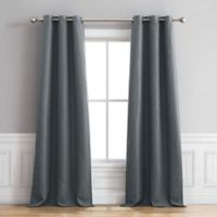 Henley 96-Inch Grommet Window Curtain Panel Pair in Dusty Blue