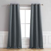 Henley 96-Inch Grommet Window Curtain Panel Pair in Dusty Blue