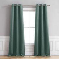 Henley 96-Inch Grommet Window Curtain Panel Pair in Teal