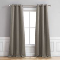 Henley 96-Inch Grommet Window Curtain Panel Pair in Grey