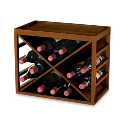 12 Bottle X Cube Wood Wine Rack