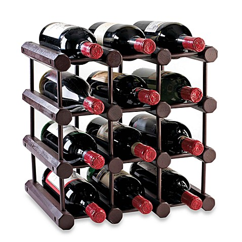 Buy Modular 12 Bottle Wood Wine Rack From Bed Bath Beyond