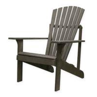 Vifah Renaissance Patio Adirondack Chair in Grey