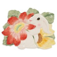 Fitz and Floyd® Bunny Blooms Canape Plate