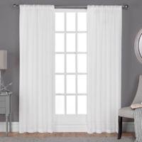 Belgian 84-Inch Rod Pocket Sheer Window Curtain Panel Pair in Winter White