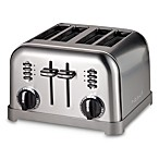 Cuisinart® 4-Slice Toaster in Black Stainless Steel