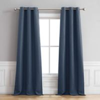 Henley 84-Inch Grommet Window Curtain Panel Pair in Indigo