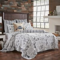 Levtex Home Lake Life Twin Quilt in Grey