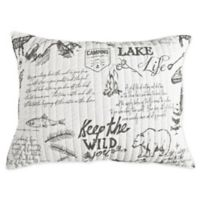 Levtex Home Lake Life Standard Pillow Sham in Grey
