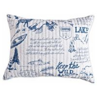 Levtex Home Lake Life Standard Pillow Sham in Navy