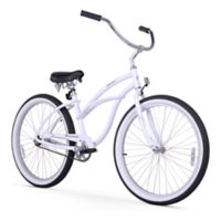 "Firmstrong Urban Lady Alloy 26"" Single Speed Beach Cruiser Bicycle in White"