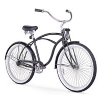 "Firmstrong Urban Man LRD 26"" Single Speed Beach Cruiser Bicycle in Black"