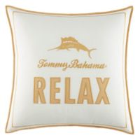 "Tommy Bahama® Loredo Garden Signature ""Relax"" Square Throw Pillow in Orange"