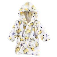 Luvable Friends® Size 0-9M Floral Fleece Bathrobe in Yellow