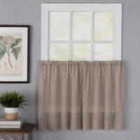 Laredo 24-Inch Rod Pocket Window Curtain Panel Pair in Flax