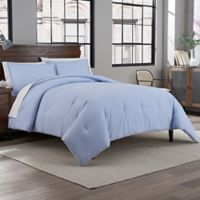 Reversible Percale Weave 2-Piece Comforter Set in Periwinkle