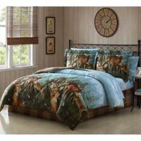 Deer Creek Reversible King Comforter Set in Brown