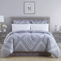 Aileen Reversible Queen Comforter Set in Grey