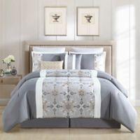 Faro King Comforter Set in Grey