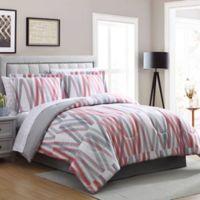 Bixby Reversible Queen Comforter Set in Grey