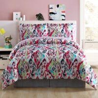 Ryder Reversible Queen Comforter Set in Pink