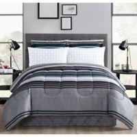 Reston Queen Comforter Set in Grey