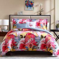 Lanai Reversible Full/Queen Comforter Set in Pink