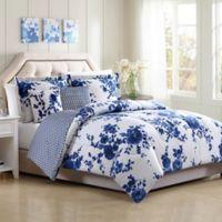 Bella Reversible Full/Queen Comforter Set in White