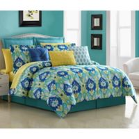 Fiesta® La Paz Reversible Queen Comforter Set in Blue