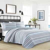 Nautica® Jettison Reversible Twin Quilt Set in Dark Grey