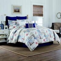 Lakehouse Reversible Full Comforter Set in Navy